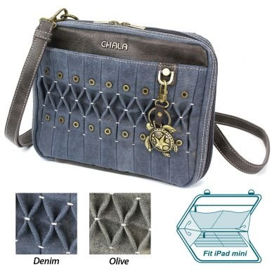 Sea Turtle  ORIGAMI Crossbody Denim