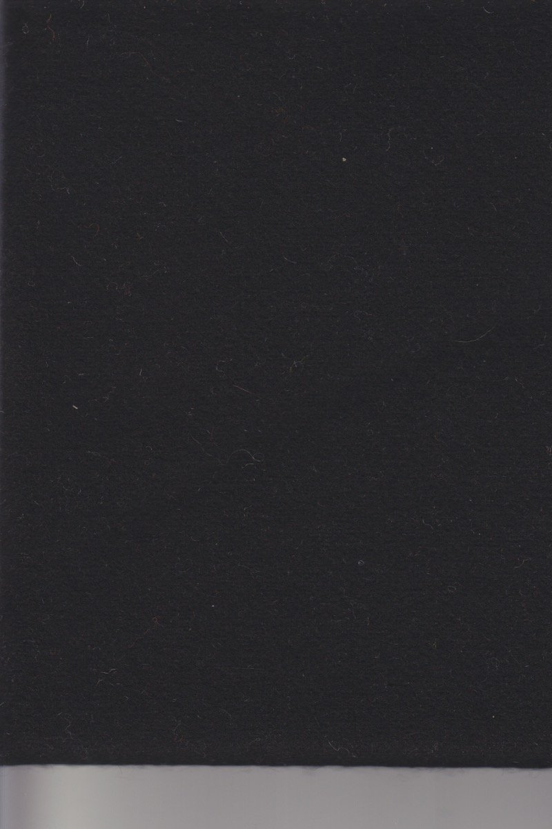 Amish Black Wool  9 x 14