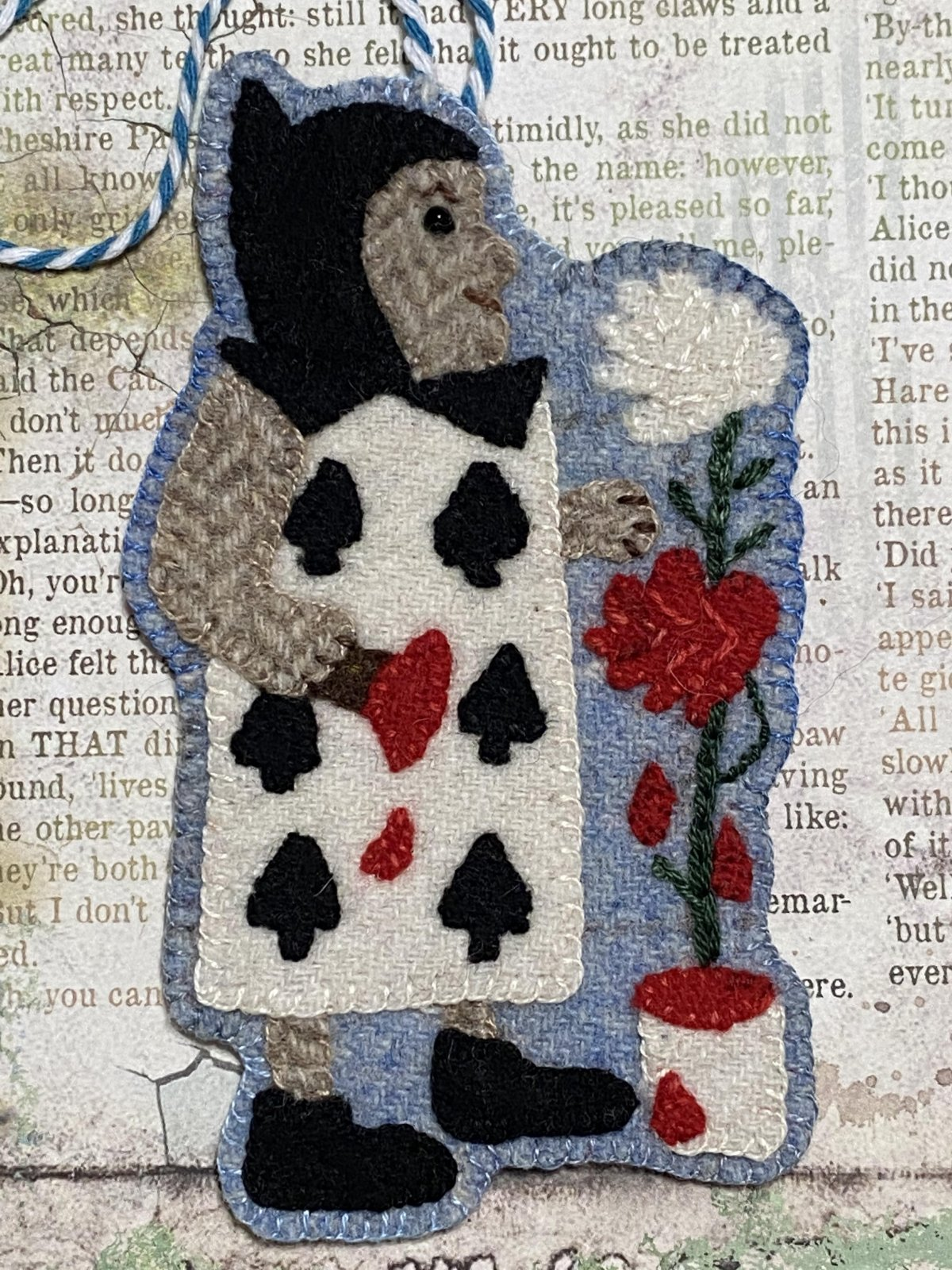 The Queen's Gardener, A Very Merry UnChristmas Wool Ornament  Download Only