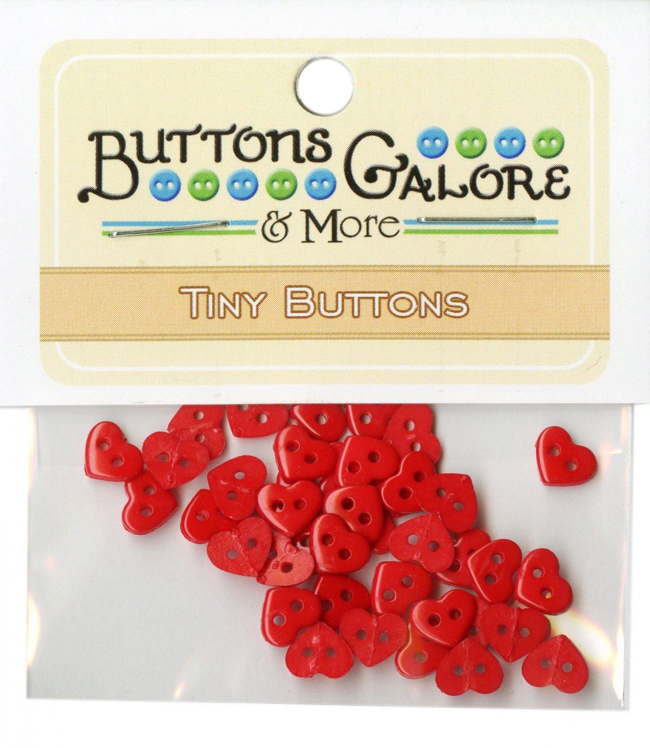 Tiny Button Red Hearts