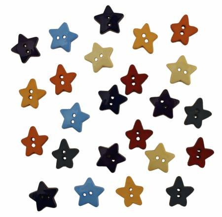 Texas Stars Buttons Assorted Sizes