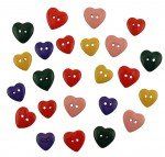 Hearts Of Color Buttons