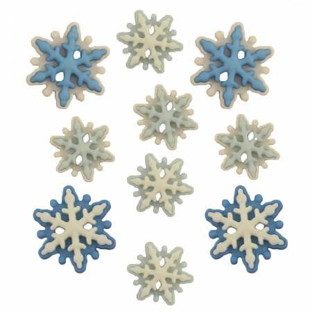 Brrr Snowflake Buttons  (10 Pieces)