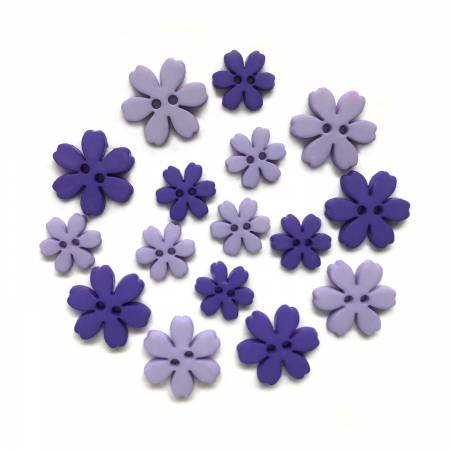 Iris Flower Power Buttons (16 Pieces)