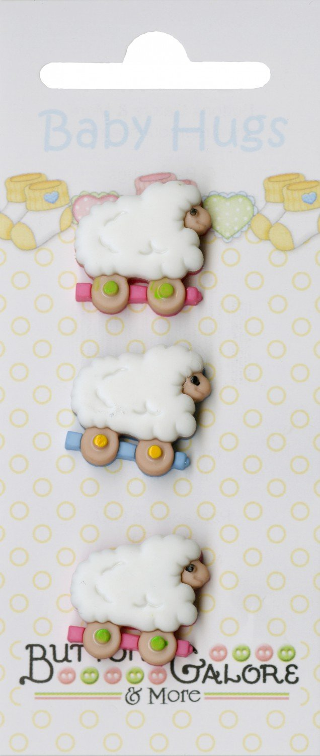 Baby Hugs Sheep Buttons (3 Pieces)