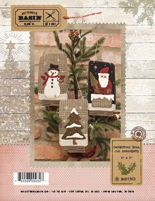 Christmas Ball Jar Ornaments 4 X 7 Pattern by Buttermilk Basin