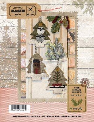 Three Woodland Ornaments 5.5 X 6.5 Pattern from Buttermilk Basin