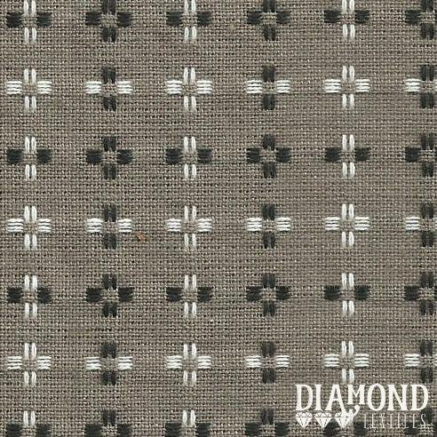 Basket Weave 1433 Brownish Taupe with Black and White Stitching Diamond Textiles