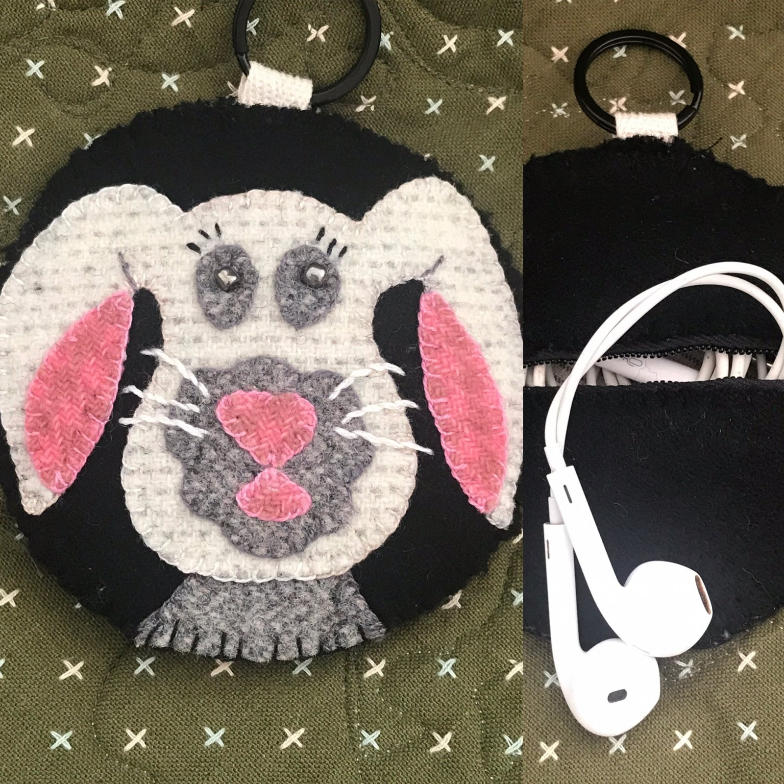 Bunny EarBud/Key Fob Kit Only no pattern