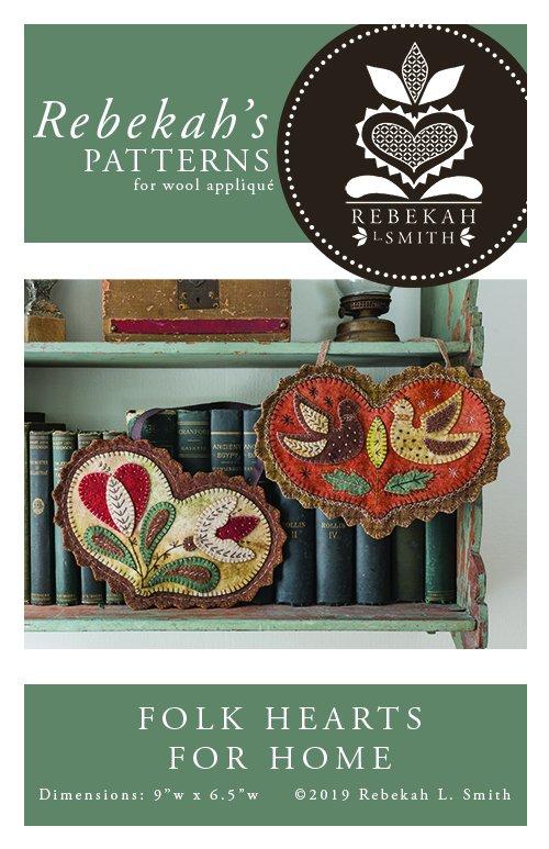 Folk Hearts for Home by Rebekah Smith Pattern