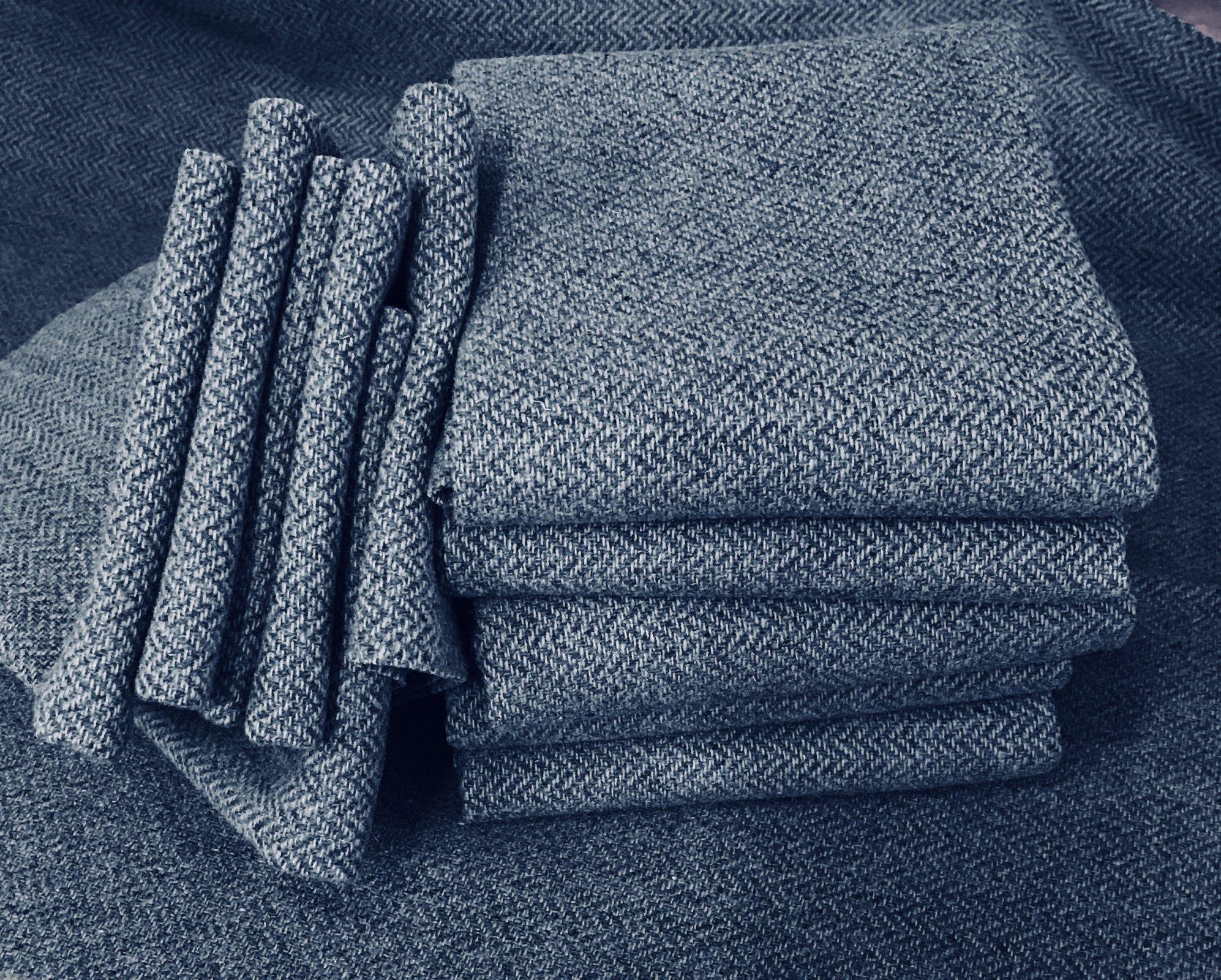 Tahoe Blue 18 X 21 100% Wool