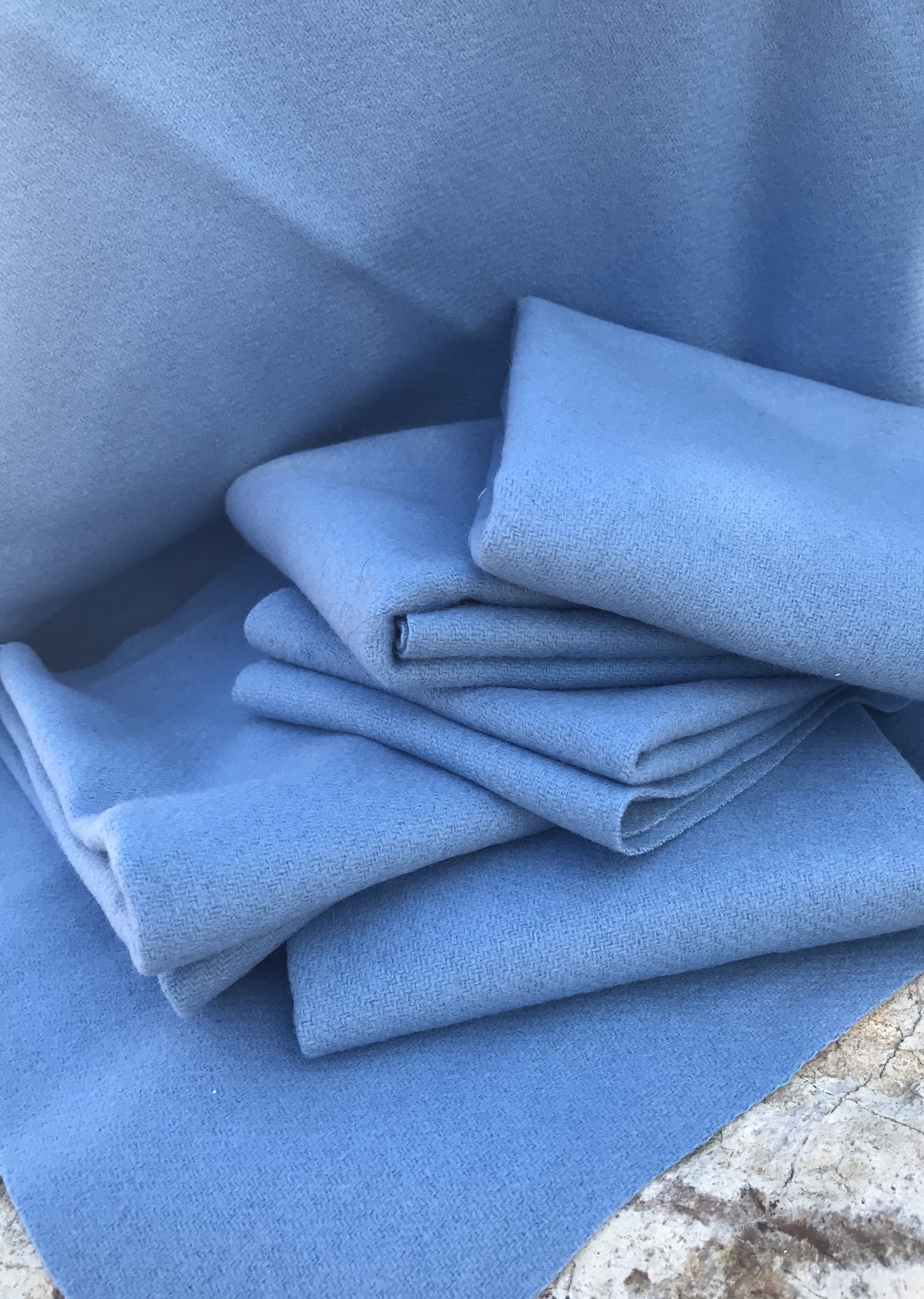 Last Piece Arabian Sea 18 X 21 100% Wool