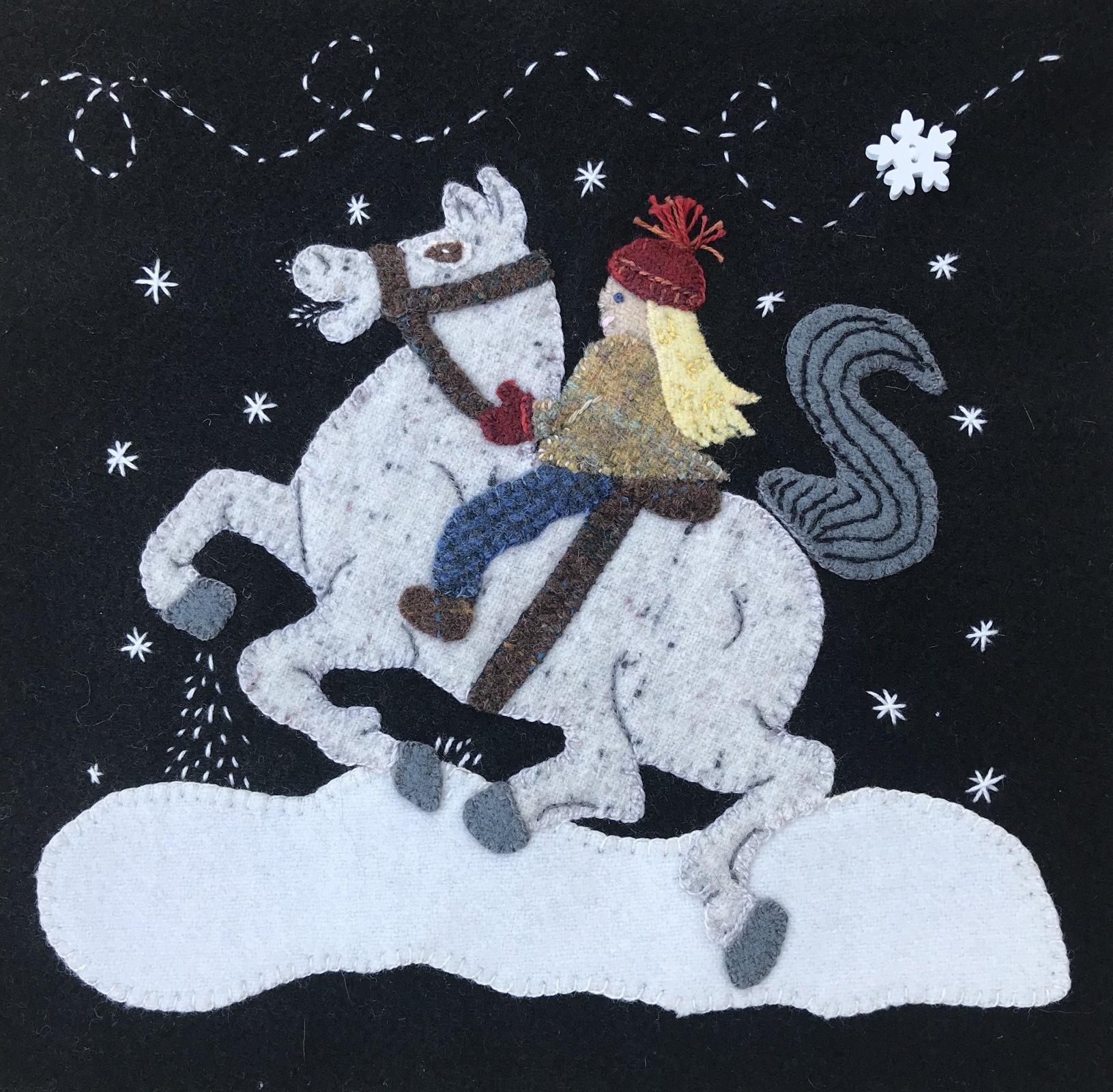 Winter Ride 2020 Wooly Block Adventure Wool Kit W Printed Pattern