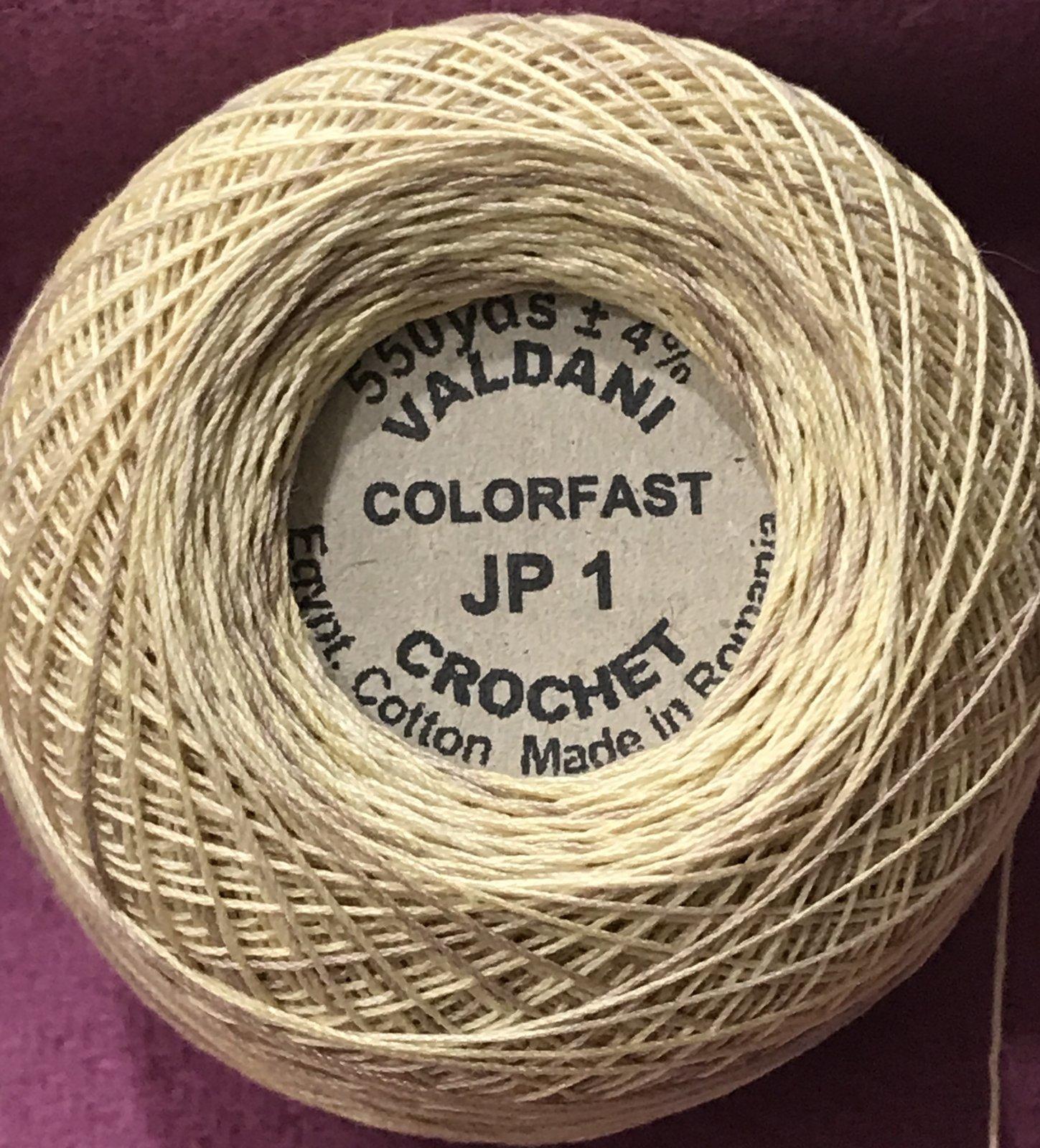 JP1 Sunwashed Crochet Cotton Valdani Size 20 Wt.