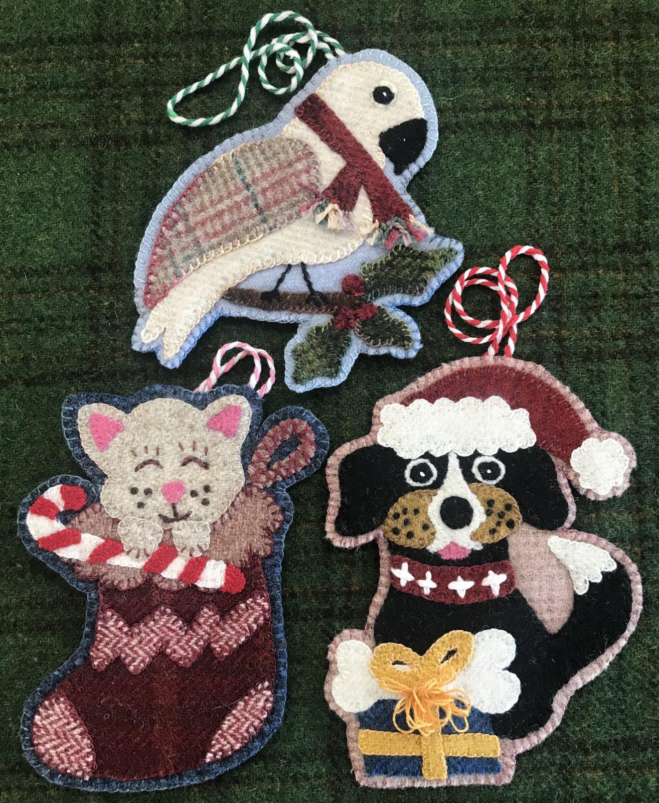 Pet Shop Christmas Ornaments Pattern & Wool Kit
