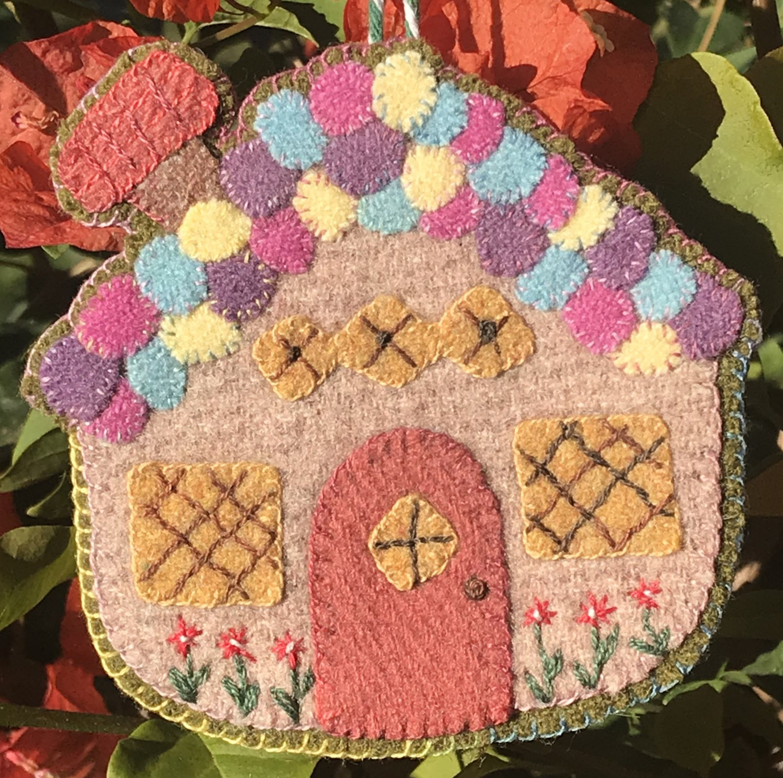 Sugar Plum Parish 1434 Reindeer Corn Road Ornament With Wool Kit with Printed Pattern