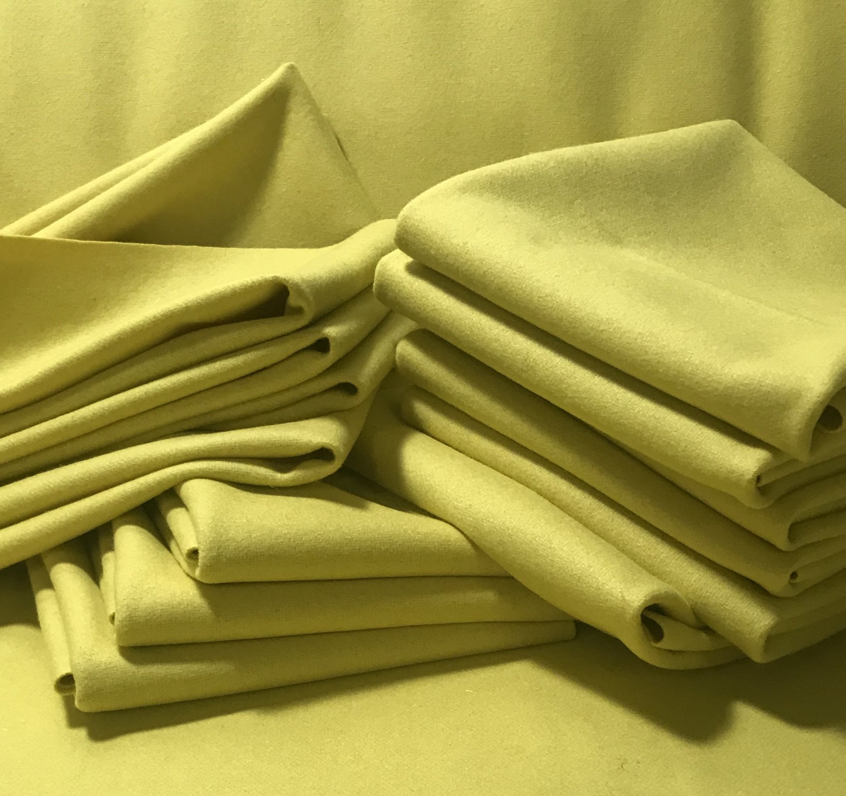 Citron 9 X 14 Wool Solid Color