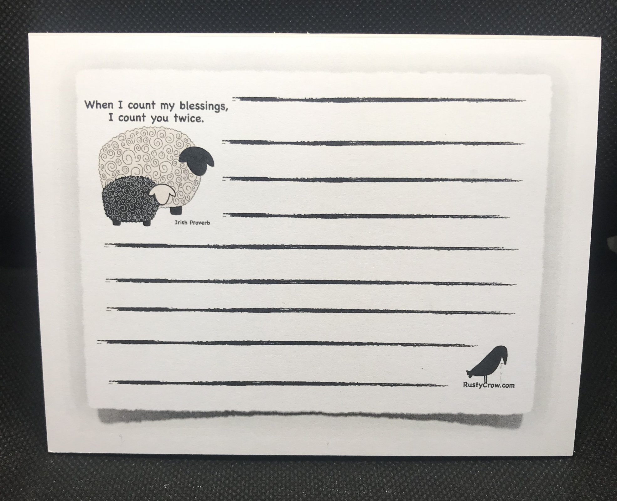 Count My Blessing Twice Notepad with Magnet 25 pages