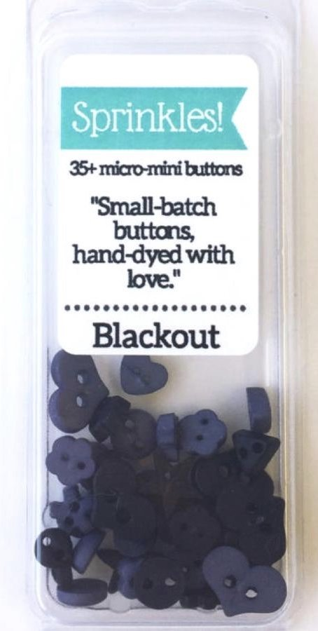 Blackout Sprinkle Pack of Buttons
