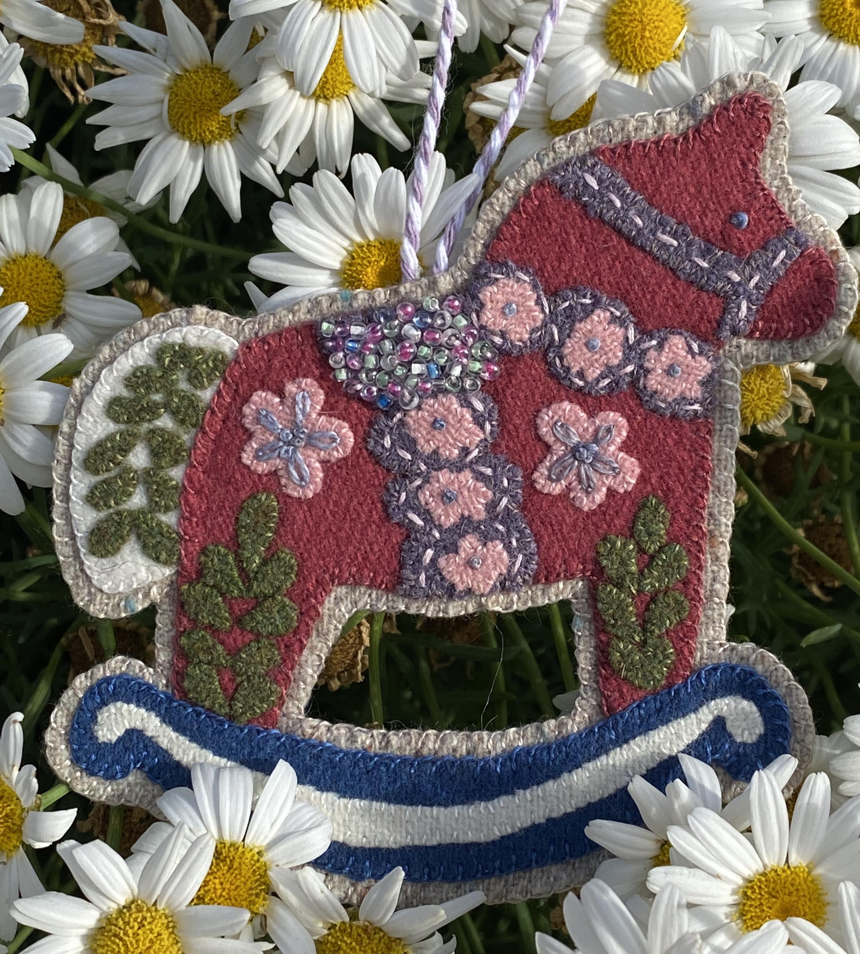 Ruffles, The Rocking Horse Week #3 Folk Art Friends Wool Kit Only