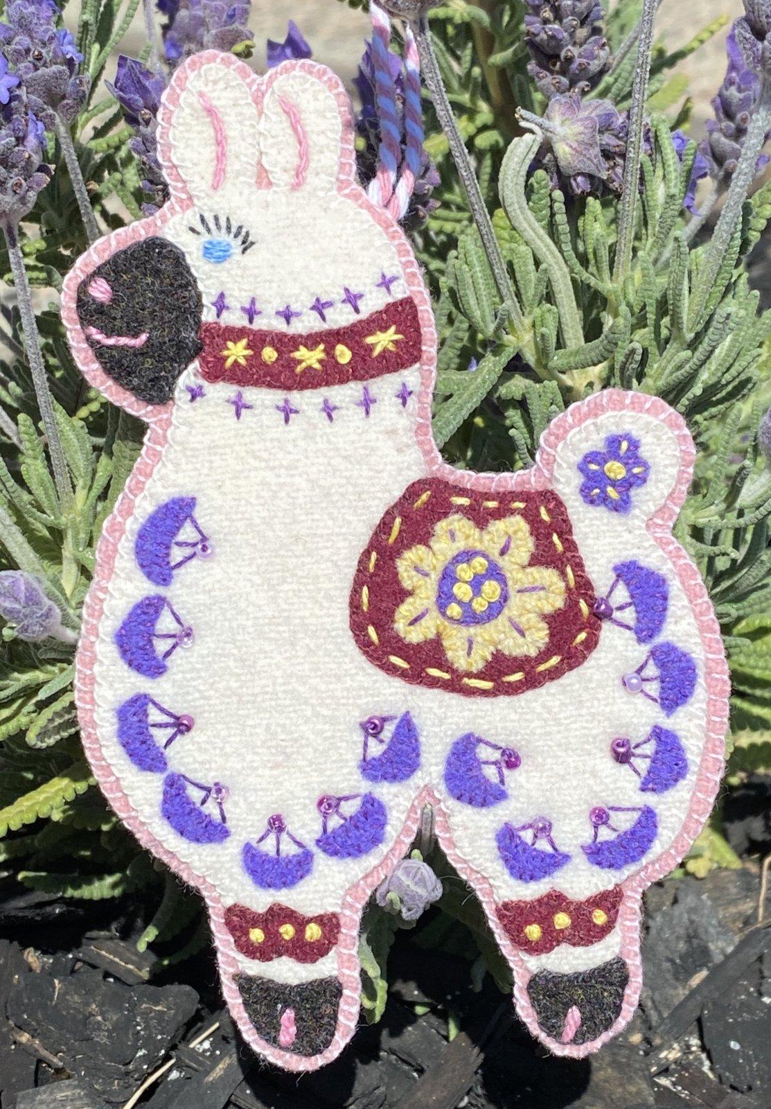 Lucy, the Llama #11 Modern Folk Art Friends Wool Kit Only