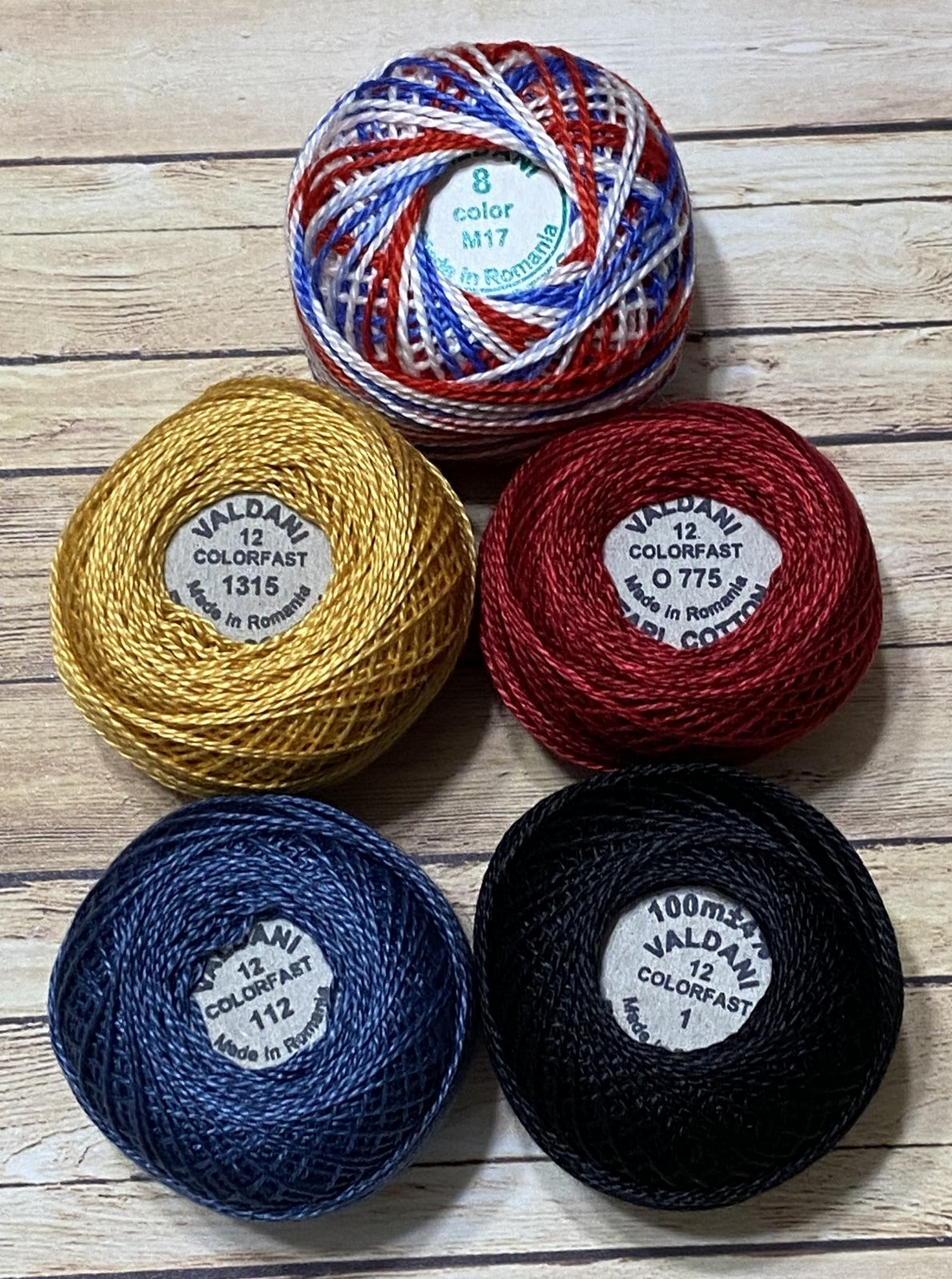 USA Proud Banner Thread kit (Red, White and Wool Project)