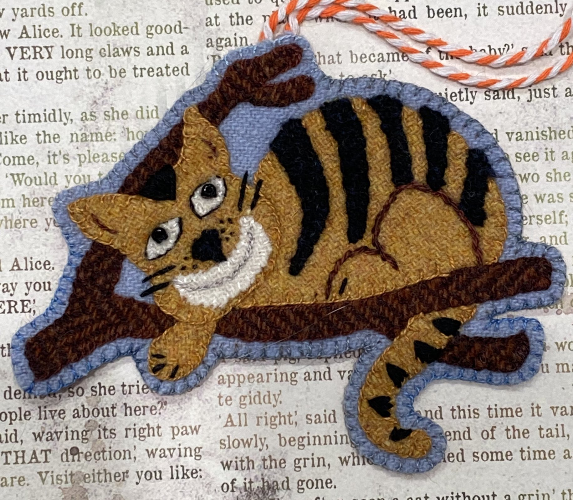A Very Merry UnChristmas The Cheshire Cat Ornament Kit with Printed Pattern