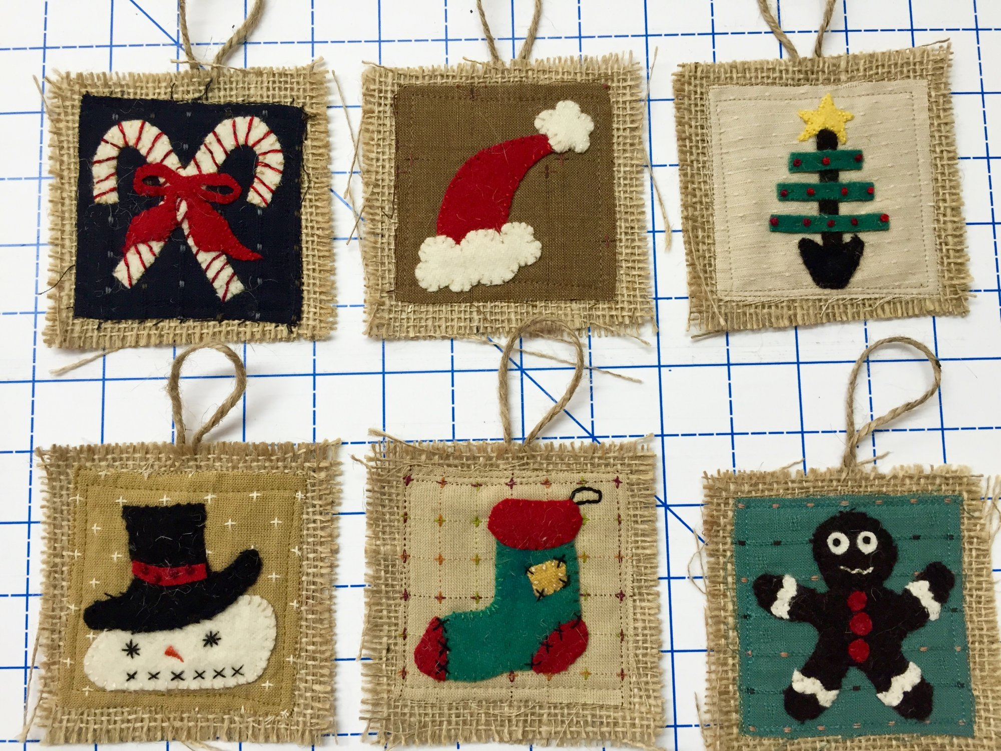 First Collection of Rusty Crow Christmas Ornaments