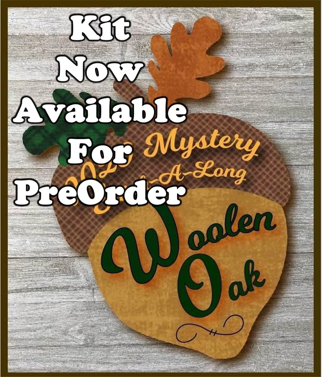Woolen Oaks Mystery Block #5 Blooming Turkey Kit Only/No Pattern