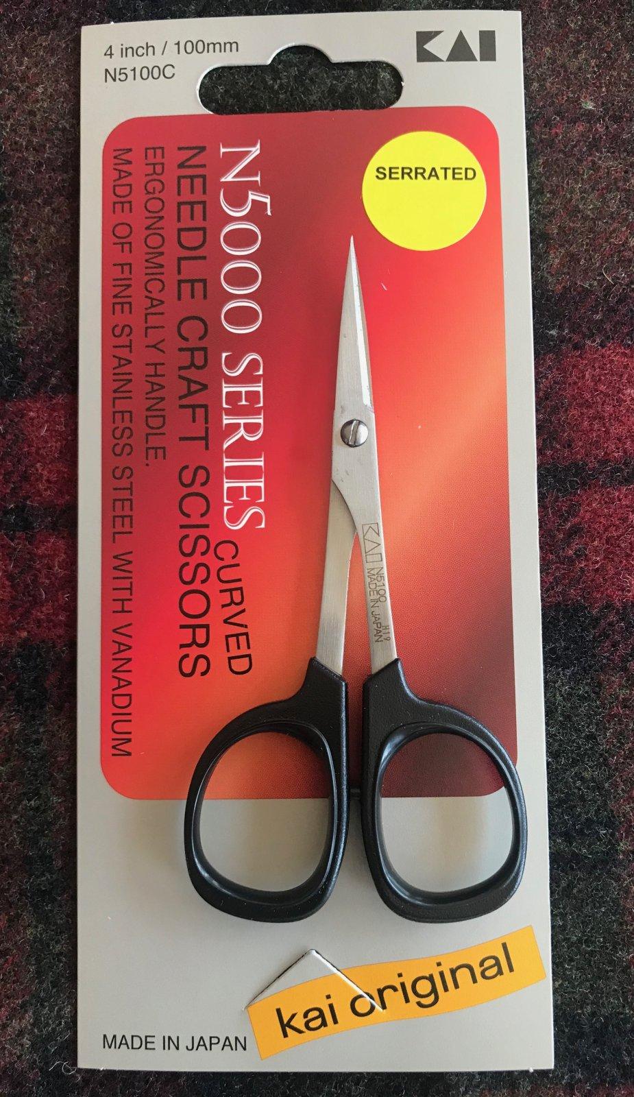 Kai Needle Craft Scissors 4 Inch Serrated Curved