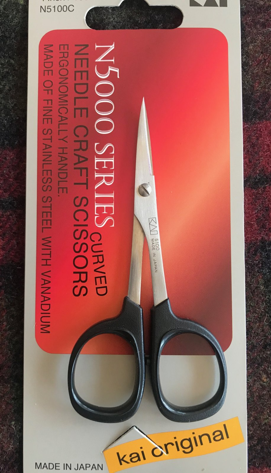 Kai Needle Craft Scissors 4 Inch Curved Blade