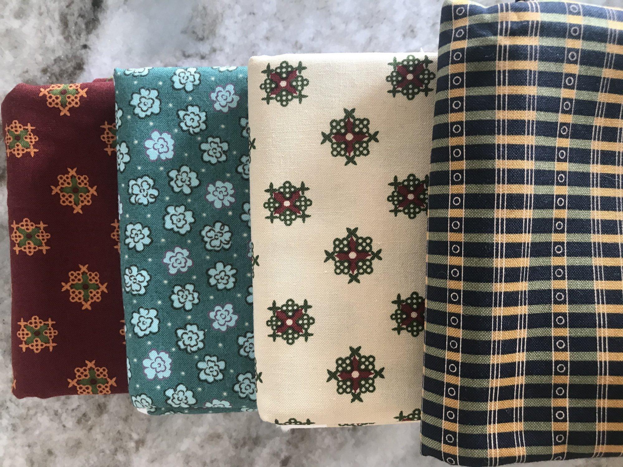 6-A  4 Moda Fabrics One Yard Cuts