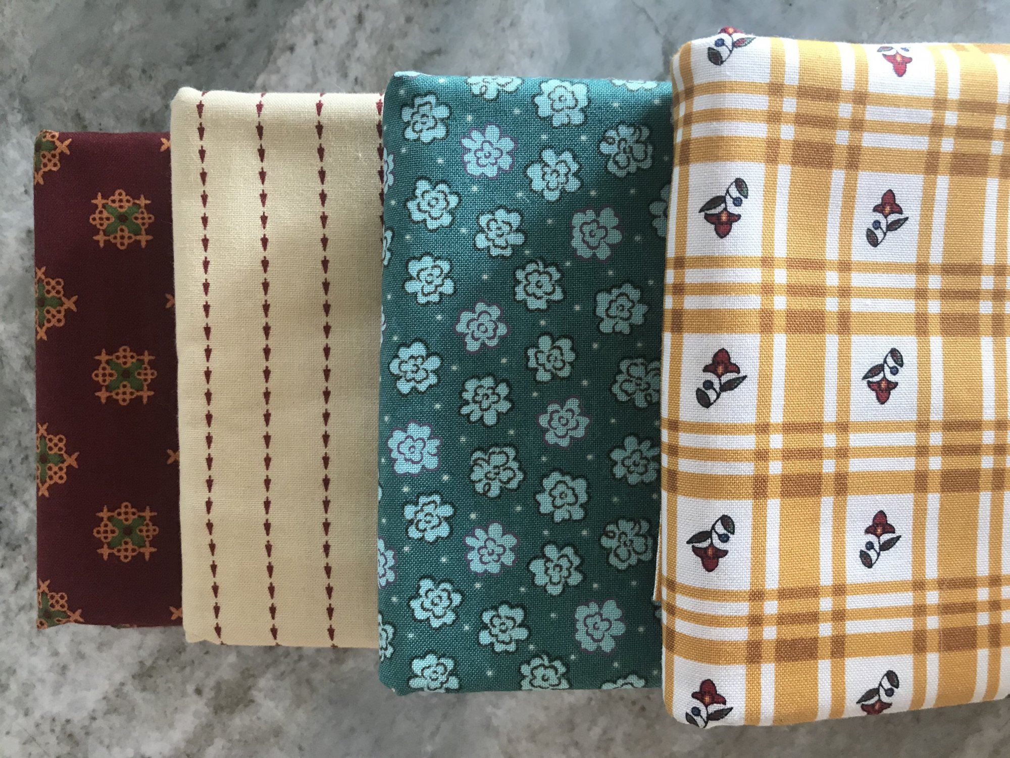 6-B 4 Moda Fabrics One Yard Cuts