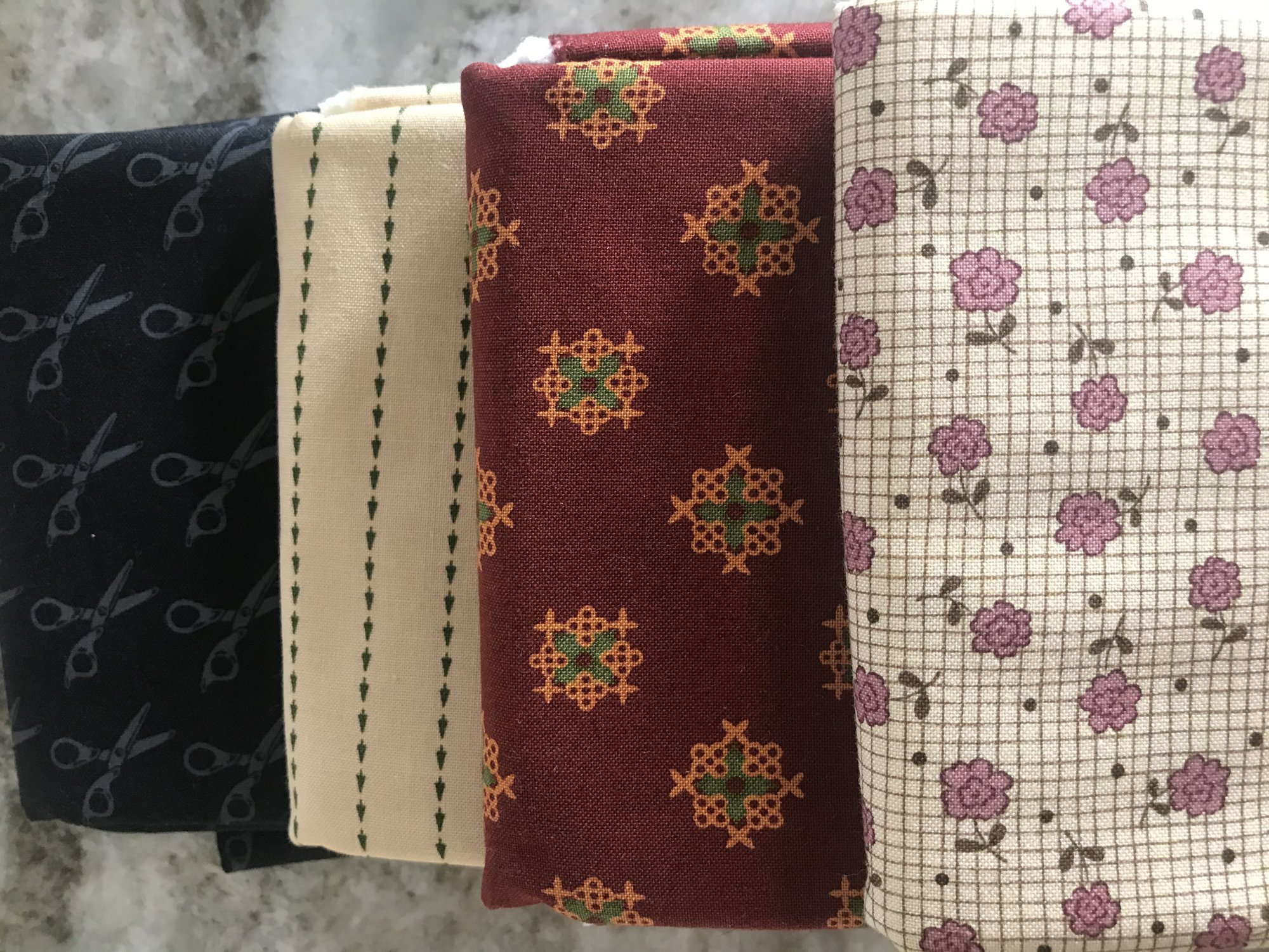 6-C 4 Moda Fabrics One Yard Cuts