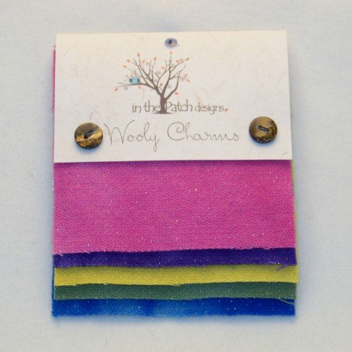 Wooly Charms Bright Hand Dyed 100% wool 5in X 5in 5 count