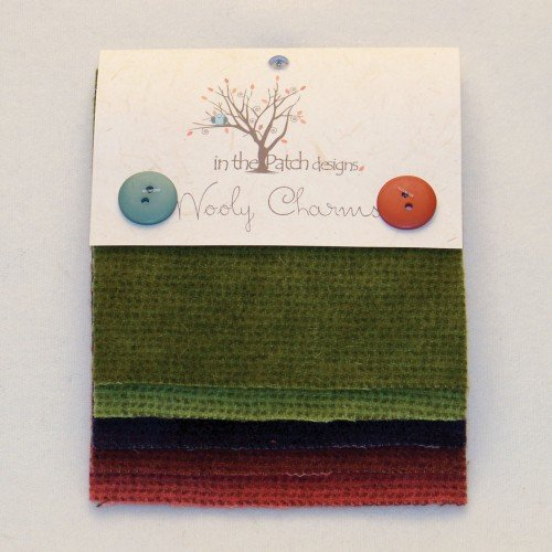 Wooly Charms Christmas Hand Dyed 100% wool 5in X 5in 5 count
