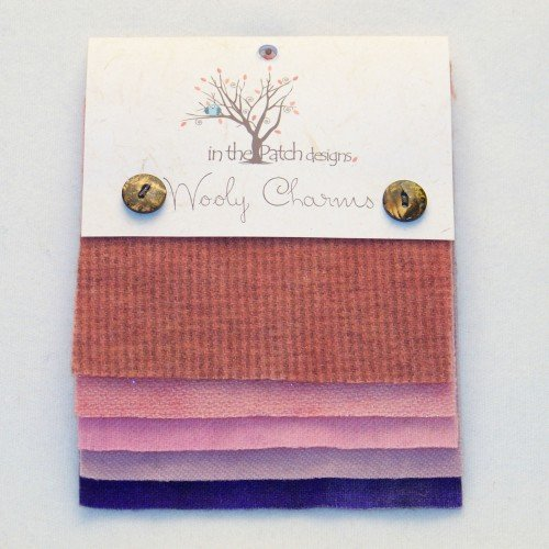 Wooly Charms Girly Hand Dyed 100% wool 5in X 5in 5 count