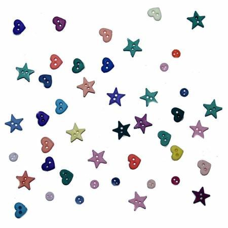 Micro Mini Shapes Buttons (25 Count)