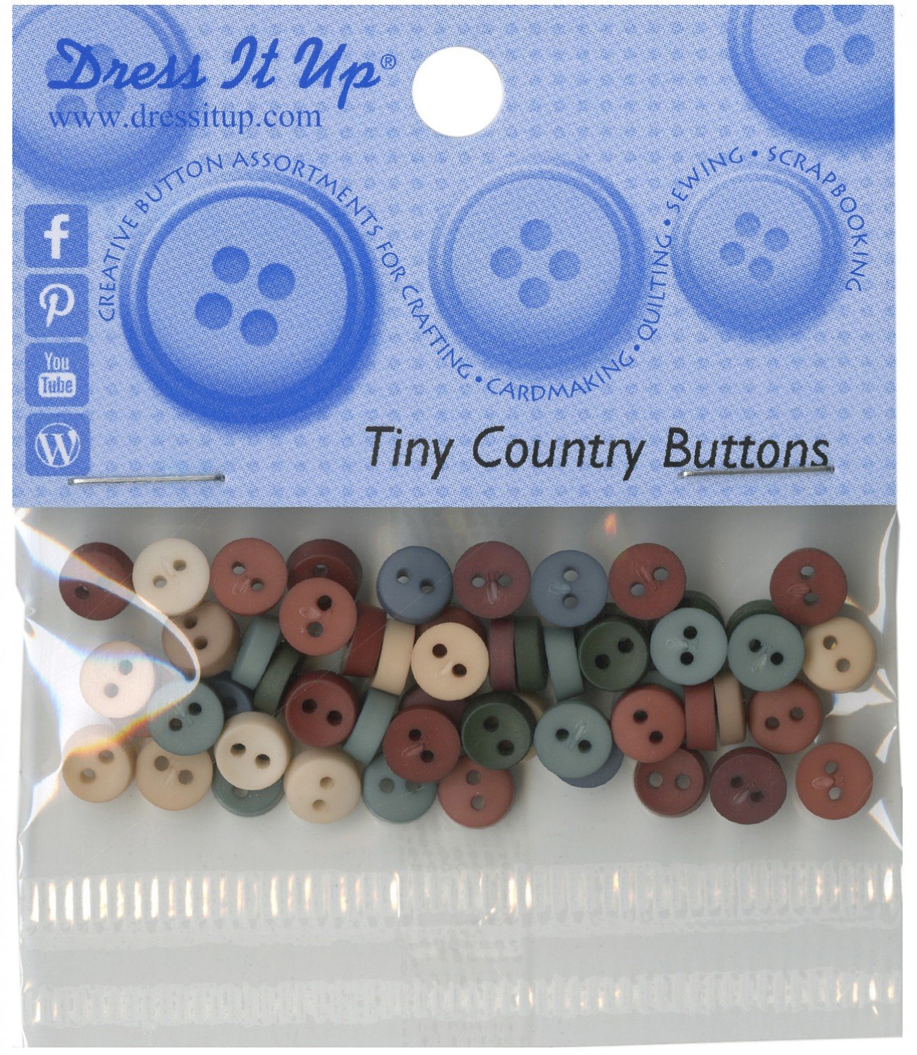 Tiny Country Buttons (35 Pieces)
