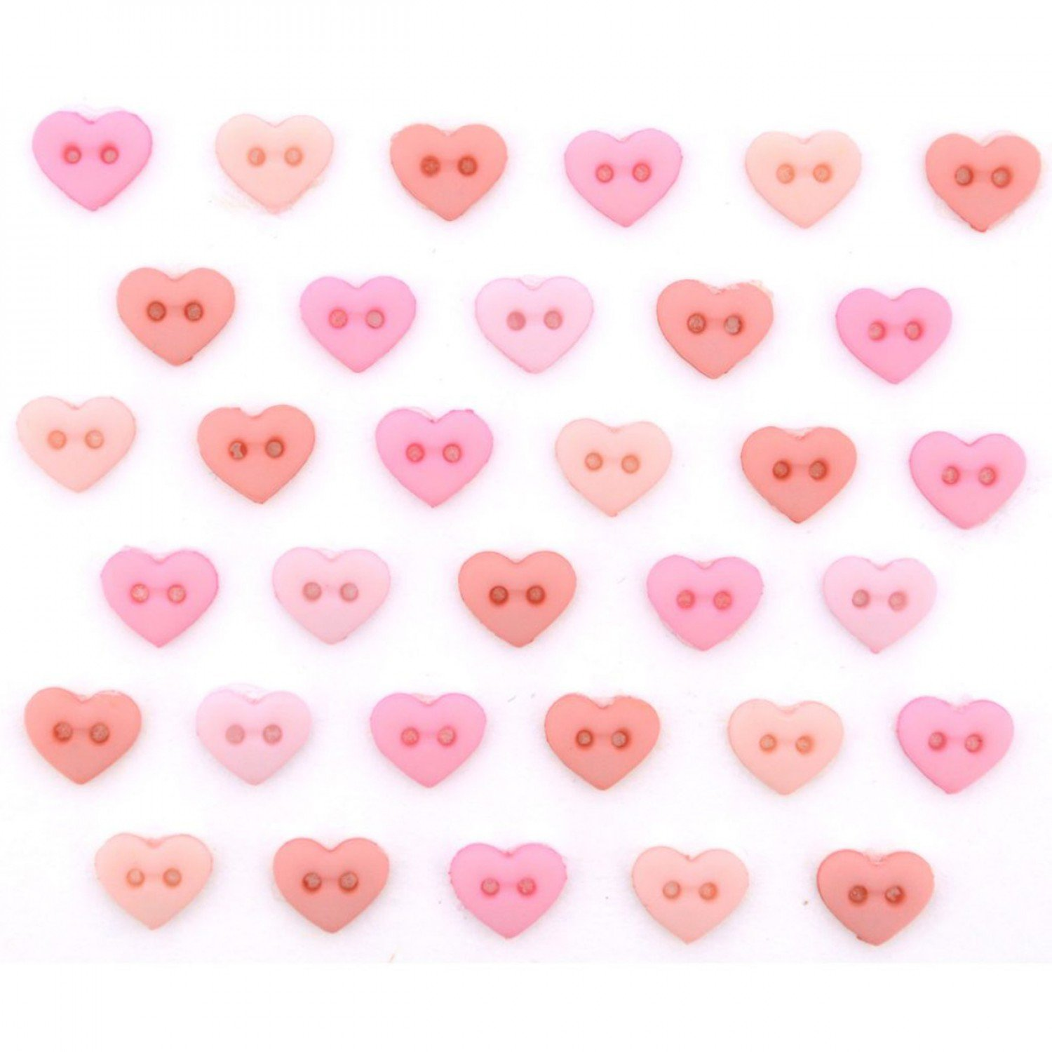 Micro Hearts Rose Buttons (30 Pieces)