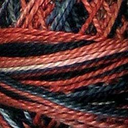 M804 (Discontinued Color, last Ones) Cold Lava  shades of burnt orange grays smoky sage black Size 8 Valdani