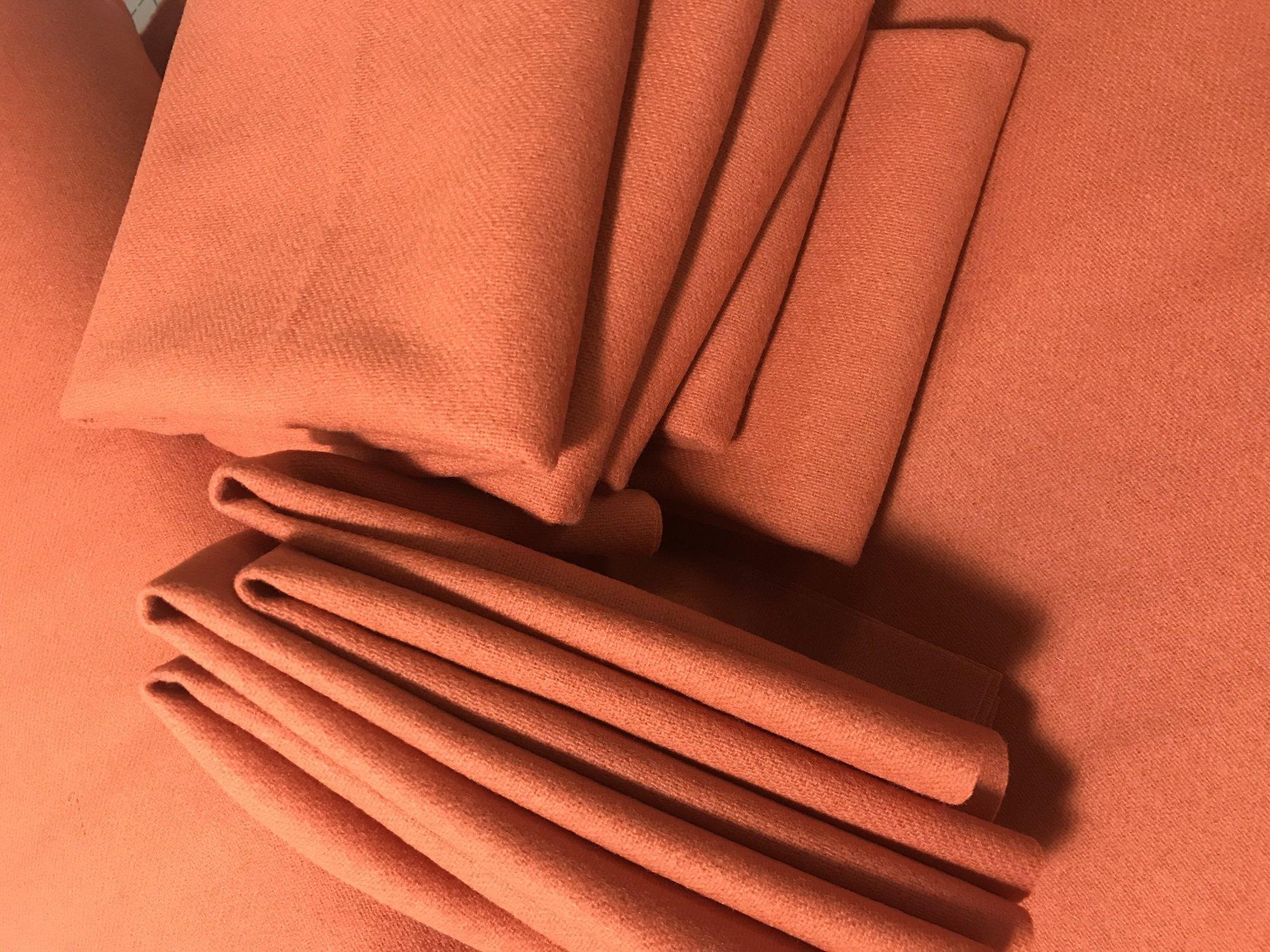 Sweet Orange 9 X 14 Wool Solid Color