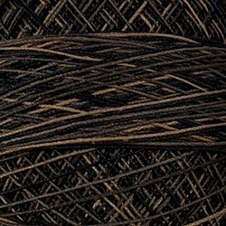 O111 Black Stone Crochet Cotton Valdani Size 20 Wt