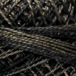 O501 Size 12 Ebony Almond - black charcoal grays Valdani