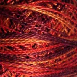 O533 Size 12 Golden Autumn - golden reds burgundy gold