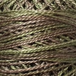 O574 Size 12 Dried Leaves - dusty greens and browns Valdani