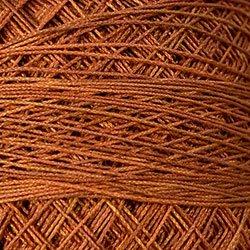 P6 Rusted Orange Crochet Cotton Valdani Size 20 Wt