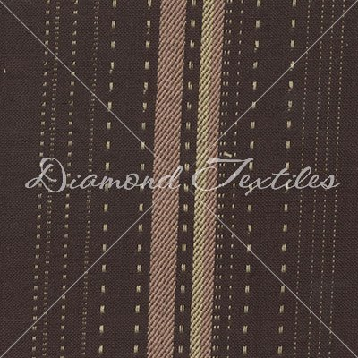 Woven Elements PRF 744 Brown with Pink & Cream Stripes