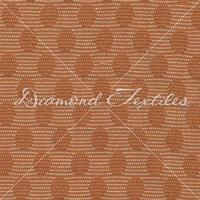 Woven Elements PRF 770 Orange Circles with Cream & Orange Stripes