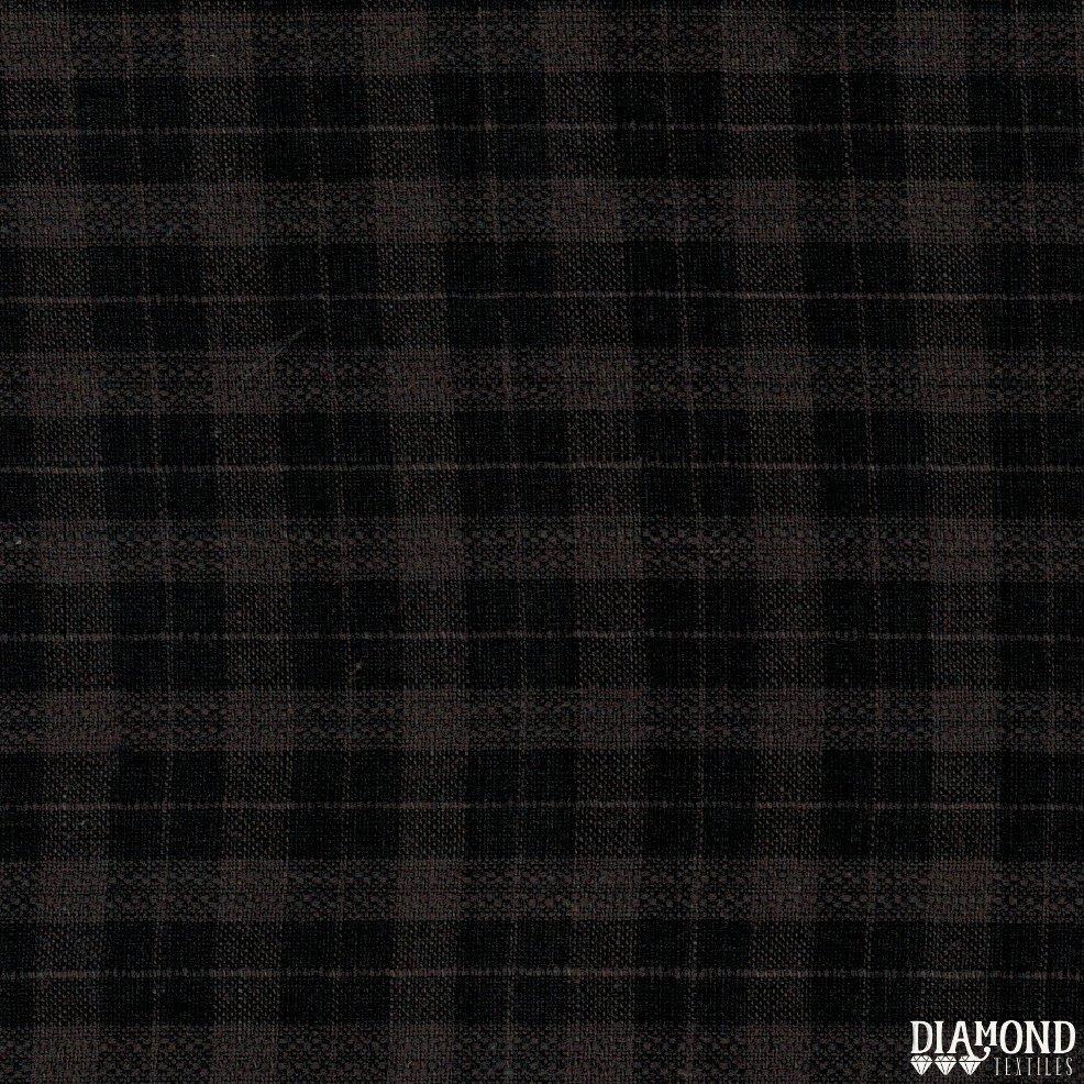 Primitive Rustic Collection PRF 825 (Frosty) Black Plaid Diamond Textiles